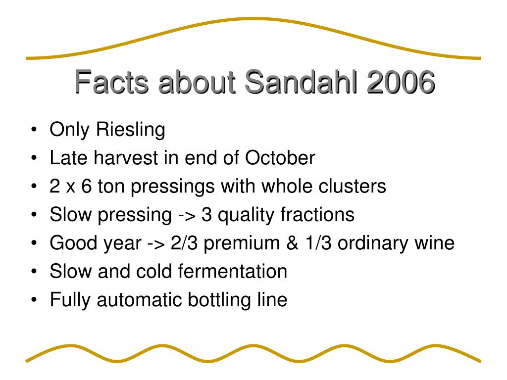 Facts about Sandahl 2006