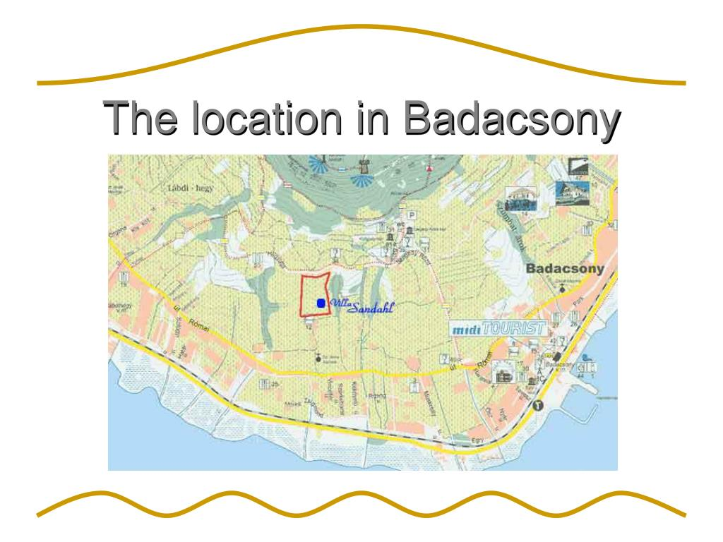 The location in Badacsony