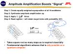 amplitude amplification boosts signal