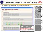 automated design of quantum circuits