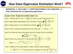 how does eigenvalue estimation work