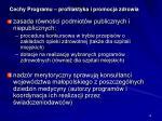 cechy programu profilaktyka i promocja zdrowia