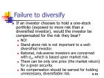 failure to diversify