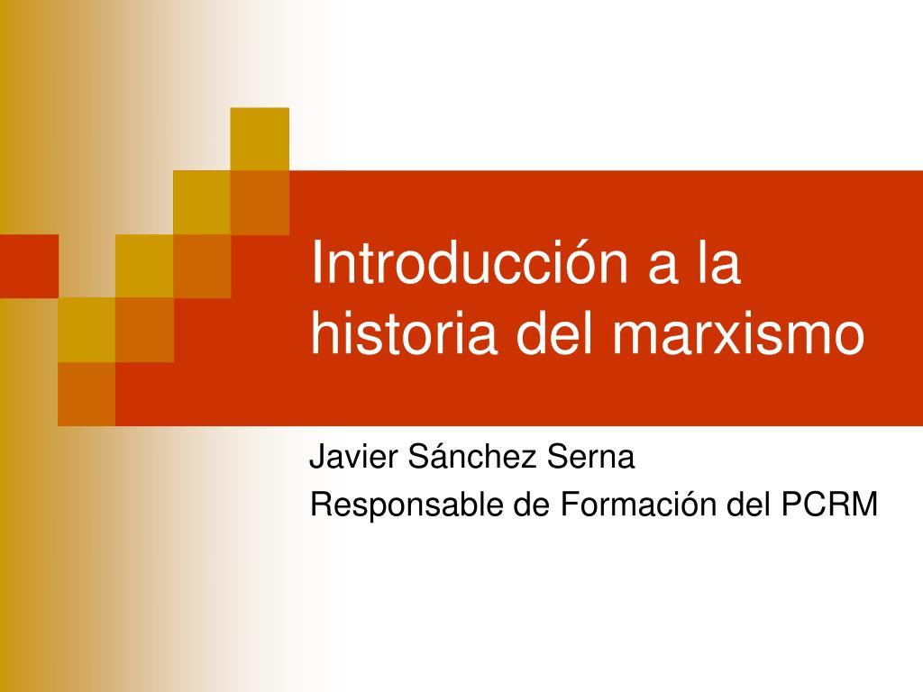 introducci n a la historia del marxismo l.