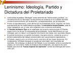 leninismo ideolog a partido y dictadura del proletariado