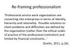 re framing professionalism