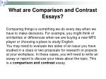 what are comparison and contrast essays