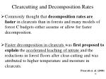 clearcutting and decomposition rates
