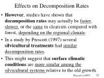 effects on decomposition rates