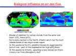 biological influence on air sea flux