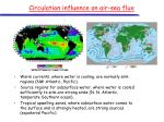 circulation influence on air sea flux