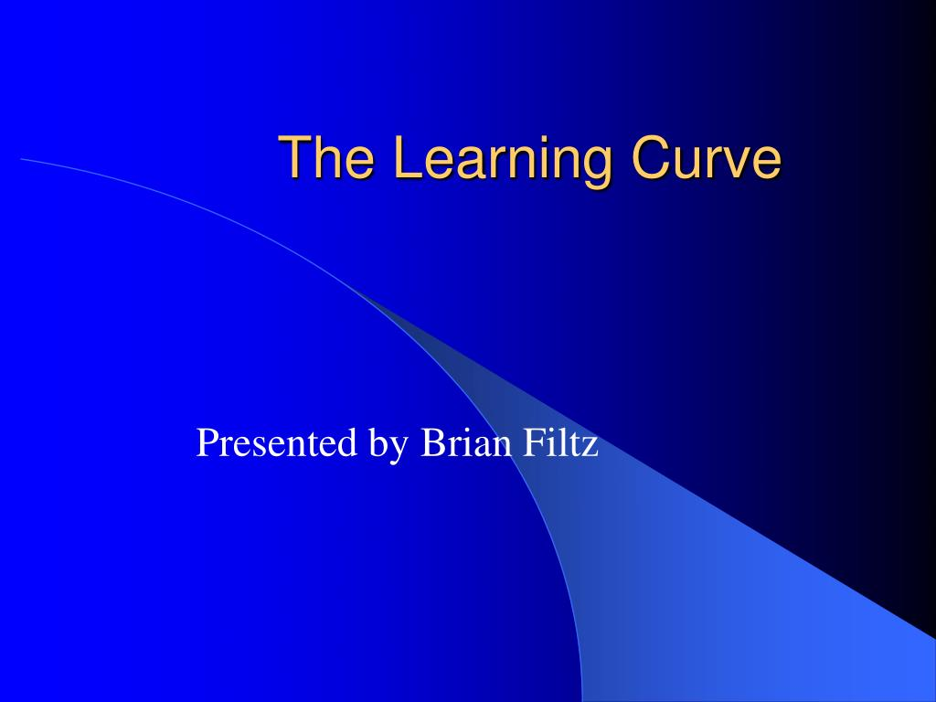 the learning curve l.