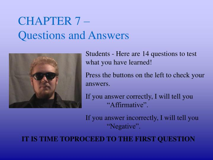 chapter 7 questions and answers n.