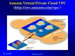 amazon virtual private cloud vpc http aws amazon com vpc