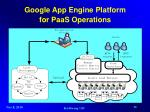 google app engine platform for paas operations
