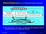 powertrust built over a trust overlay network