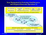 trust management for protecting cloud resources and safeguard datacenter operations 3