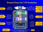 trusted zones for vm insulation