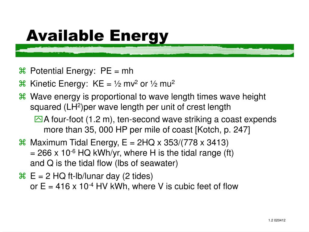 Available Energy