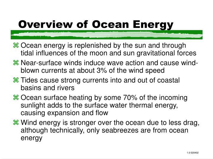 Overview of ocean energy