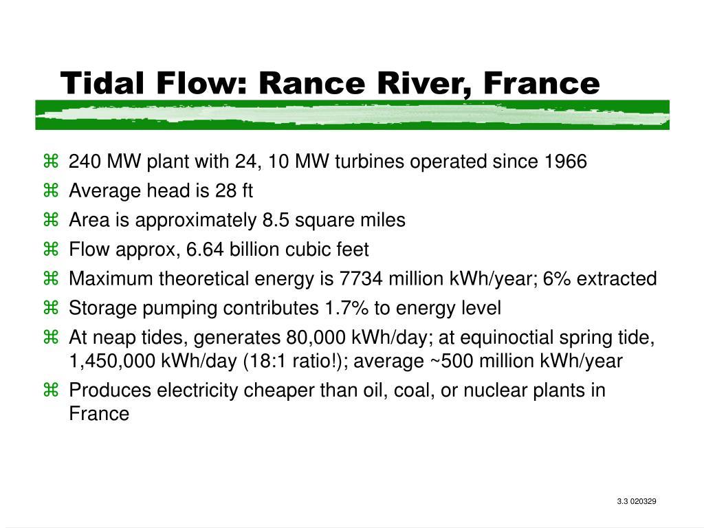 Tidal Flow: Rance River, France