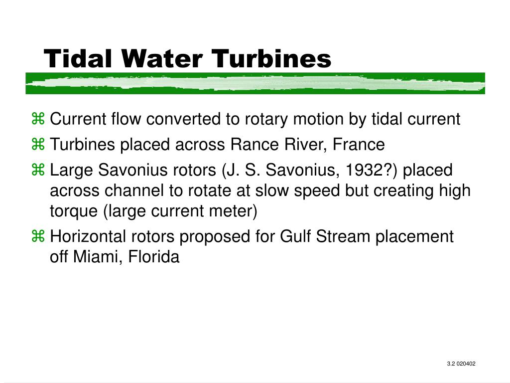 Tidal Water Turbines