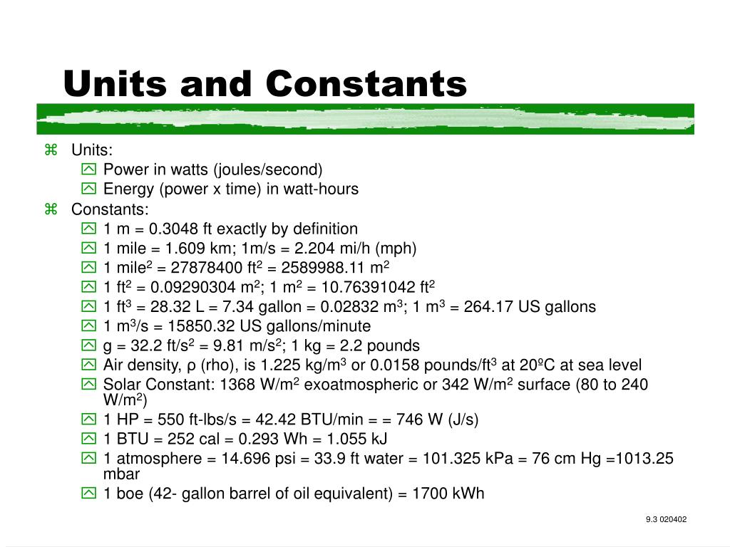Units and Constants