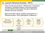 2 launch reverse auction rfo