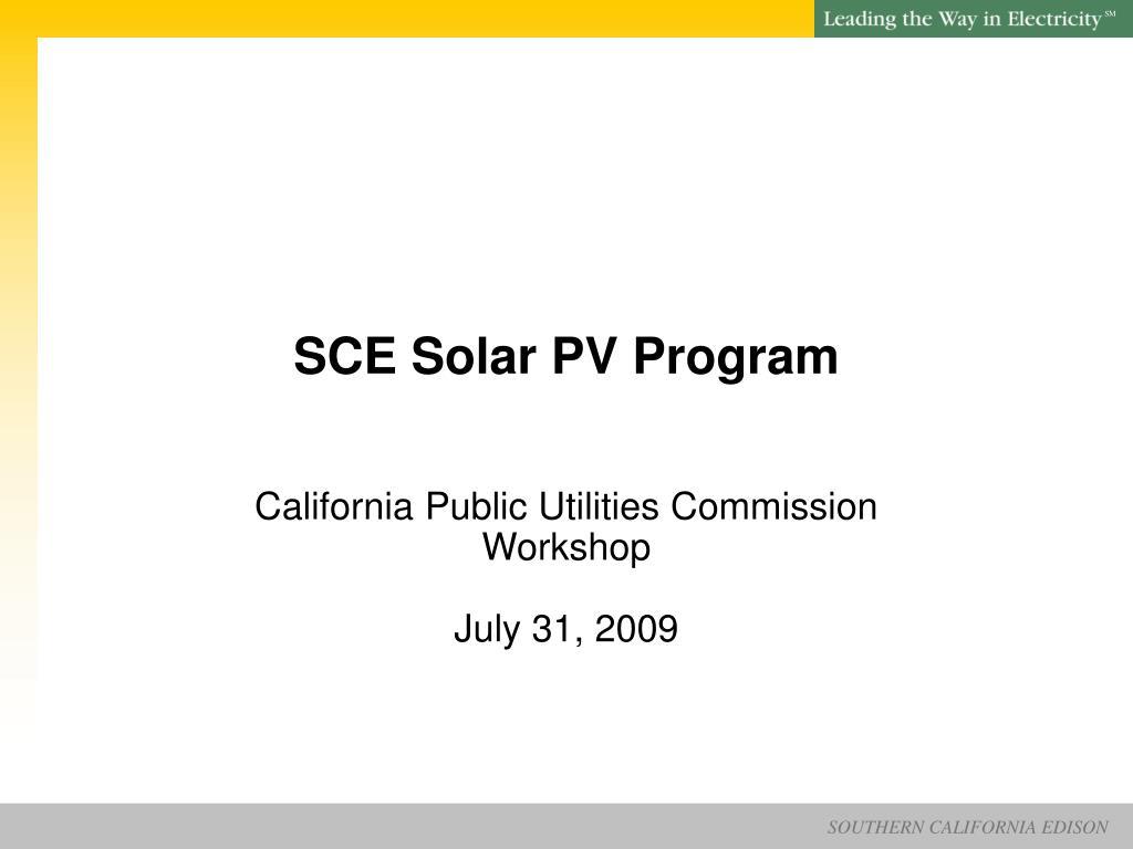 sce solar pv program l.
