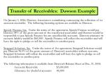 transfer of receivables dawson example