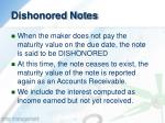 dishonored notes