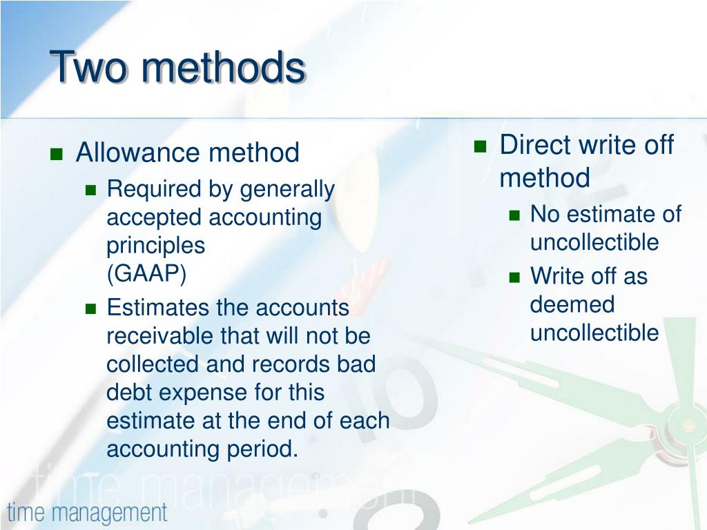 PPT - Accounting for Receivables PowerPoint Presentation