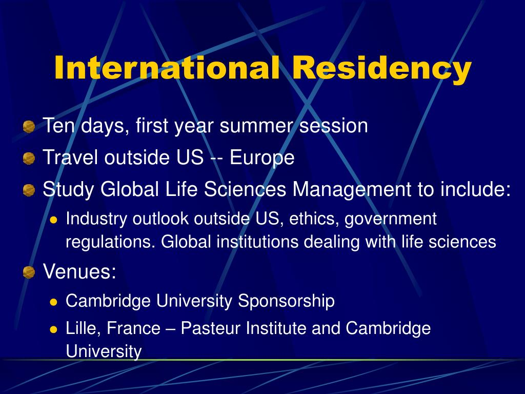 International Residency