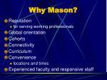 why mason