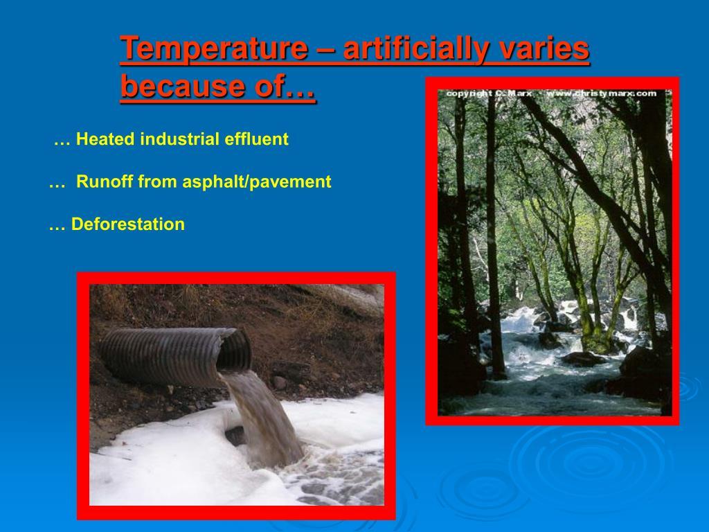 Temperature – artificially varies