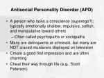 antisocial personality disorder apd