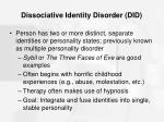 dissociative identity disorder did