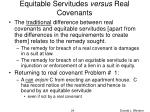 equitable servitudes versus real covenants