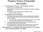 property theory of equitable servitudes