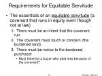 requirements for equitable servitude