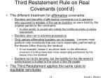 third restatement rule on real covenants cont d