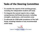 tasks of the steering committee
