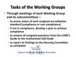 tasks of the working groups