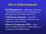 how is meth produced