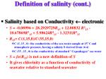 definition of salinity cont5