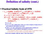 definition of salinity cont6