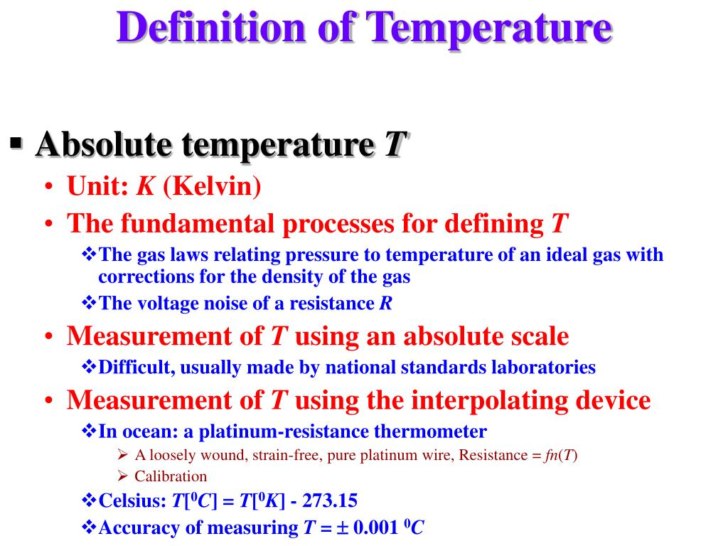 Definition of Temperature