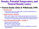 density potential temperature and neutral density cont16