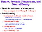 density potential temperature and neutral density