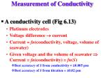 measurement of conductivity